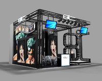 3d model exhibition design stand