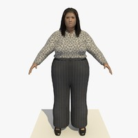 3d realistically asian woman clothed model