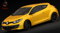 3ds max realistic renault megane rs3