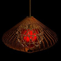 3d chinese red lamp