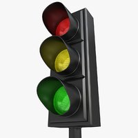 3d traffic light 02 model