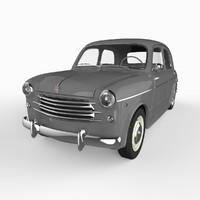 fiat 1100-103 sedan 1953 3ds