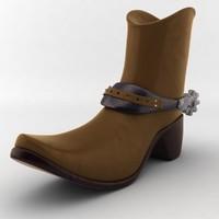 cowboy boot 3d max