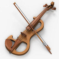 electric violin 3d model