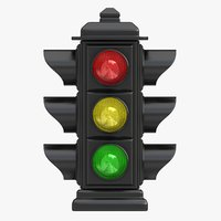 traffic light 03 3d 3ds