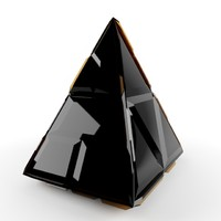 crystal triangle 3d max