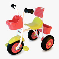 3d model trike bike child
