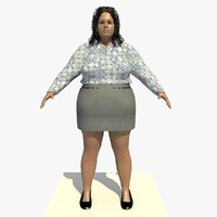realistically european woman clothed c4d