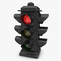 traffic light animation 3d max