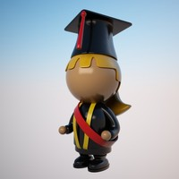 student character cartoon 3d max