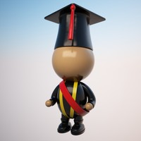 3ds max student character cartoon