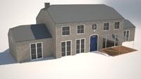 belgian house 3d model