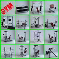 15 gym equipment 1 3d max