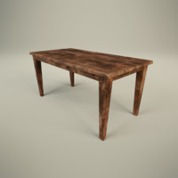rustic table 3d max