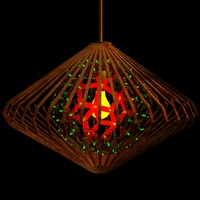 3d max chinese red lamp