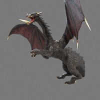 3d dragon rigged model