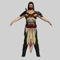 3ds max barbarian warrior character polys