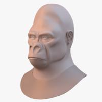 obj gorilla primate