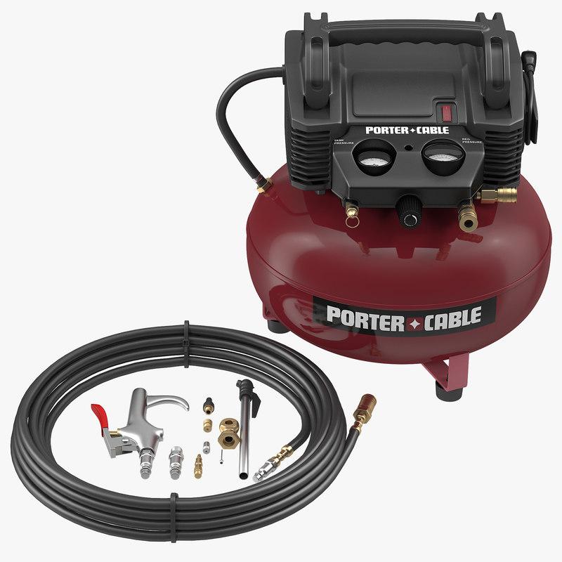 UMC Pancake Compressor Porter Cable C2000 3d model 01.jpg