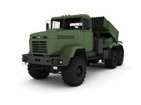 3d model truck kraz bastion