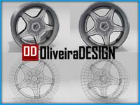 3d model vaska rim wheel