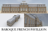 baroque french pavillion 3d model
