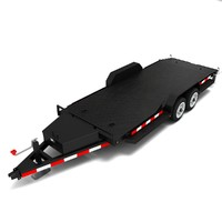 car trailer 3ds