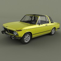 3d model bmw 2002 targa