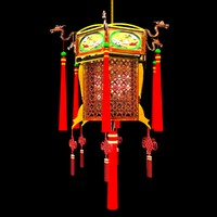 chinese red lantern lamp 3d max
