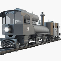 3d model 21 steam locomotive engine