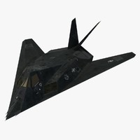 F-117 Nighthawk Stealth Aircraft Rigged