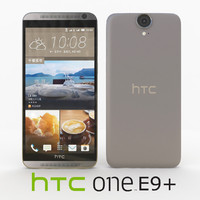 htc e9 rose gold 3d model