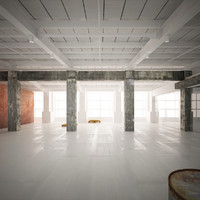 industrial warehouse interior 3d 3ds