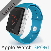3d model apple watch sport