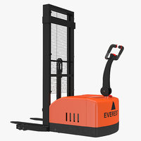 maya electric walkie stacker orange