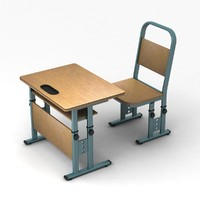 adjustable school desk 3d max