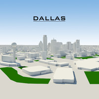 dallas cityscape 3d dxf