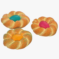 easter bread set 3d model