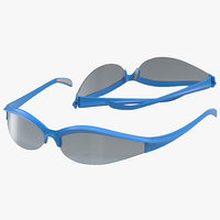 sport glasses 3 set 3d model