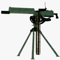 machine gun 3d obj