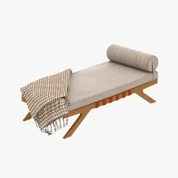 3ds max century chaise lounge