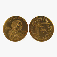 sacagawea dollar 3d model