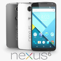 google nexus 6 3d model