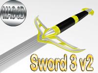 3d model sword 3