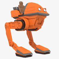 sci-fi walker 3d max