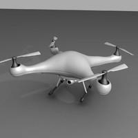 3d model drone dron