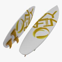 3d surfboard board