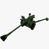 3d model anti tank gun