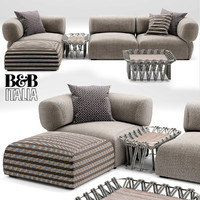 3d model of butterfly bt007 sofa
