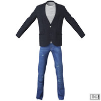 man clothes obj